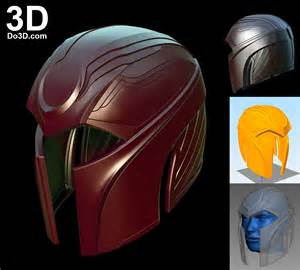 magneto helmet template 3d printable model apocalypse magneto helmet