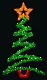 green zig zag tree light pole decoration