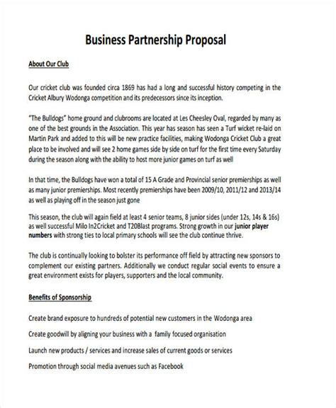 business partnership proposal template 4 partnership