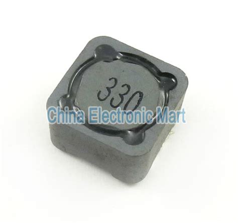 smd inductor voltage rating 10pcs lot smd surface mount power inductor 33uh 330 shielding inductance current 3a 12 12