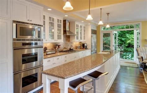 one wall kitchen with island designs galley kitchen with island and only one wall galley