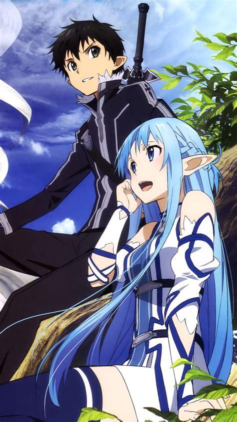 wallpaper android sao sword art online 2 kirito asuna samsung galaxy s4