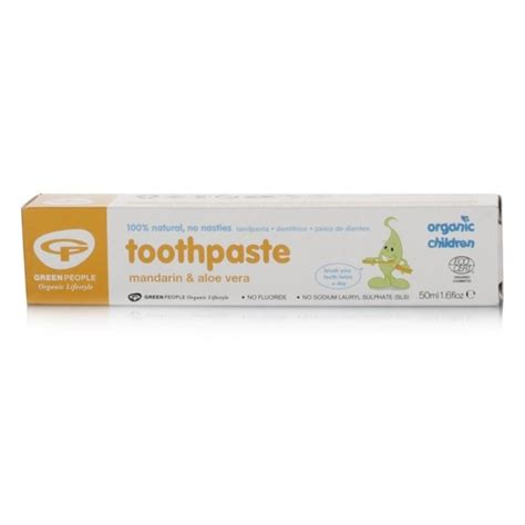 Green Organic Children Toothpaste green organic children mandarin toothpaste