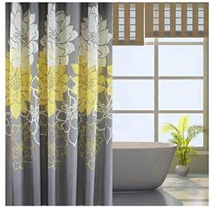gray yellow shower curtain site disabled