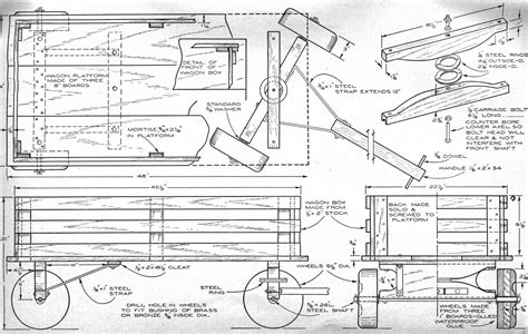 wooden wagon plans  woodworking