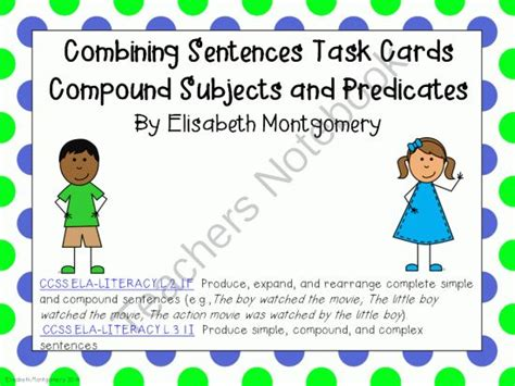 biography and autobiography task cards task cards combining sentences subjects and predicates