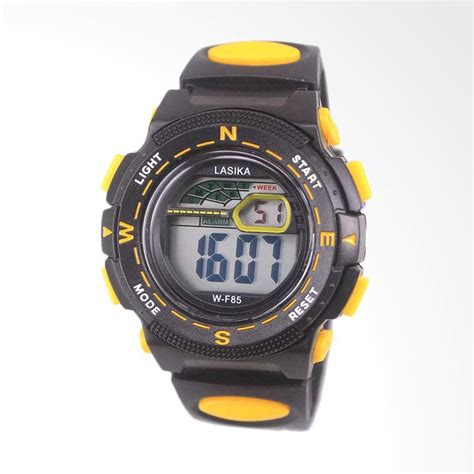 Jam Tangan Lasika Sport Black jual lasika sport digital jam tangan unisex black yellow