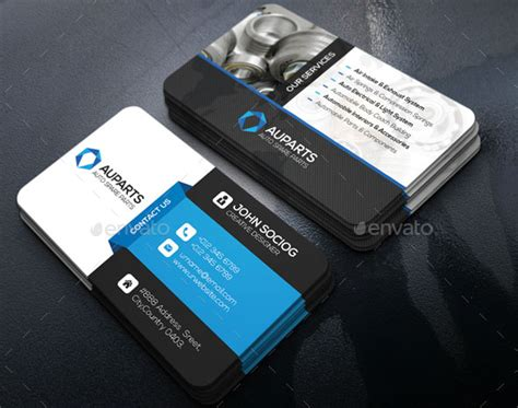 automotive business cards templates ai automotive business cards navy blue and brown illustrated