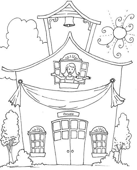escuela lecturas infantiles dibujos para colorear y pintar imagen de escuelas para colorear archivos dibujos