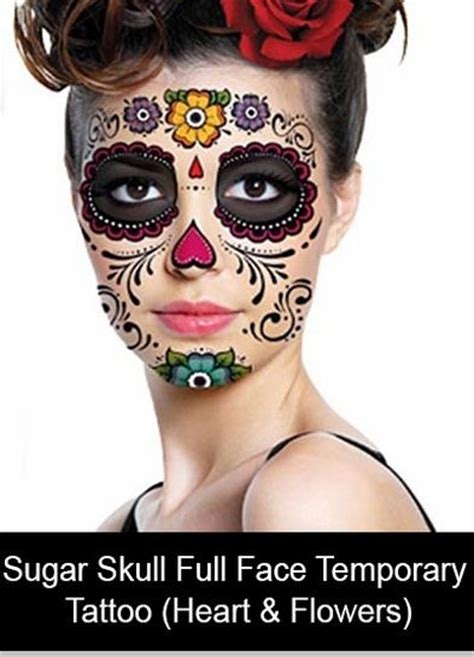 sugar skull temporary tattoo sugar skull temporary flowers