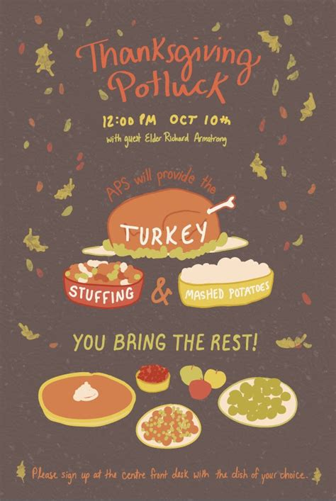 6 Best Images Of Thanksgiving Potluck Invitation Email Template Thanksgiving Potluck Flyer Thanksgiving Potluck Invitation Template Free Printable