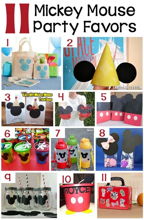 Mickey Mouse Party Giveaways - 70 mickey mouse diy birthday party ideas about family crafts