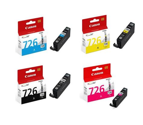 canon ink cartridge cli 726 bk c m y 1set original