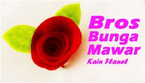 membuat bros bunga mawar  kain flanel