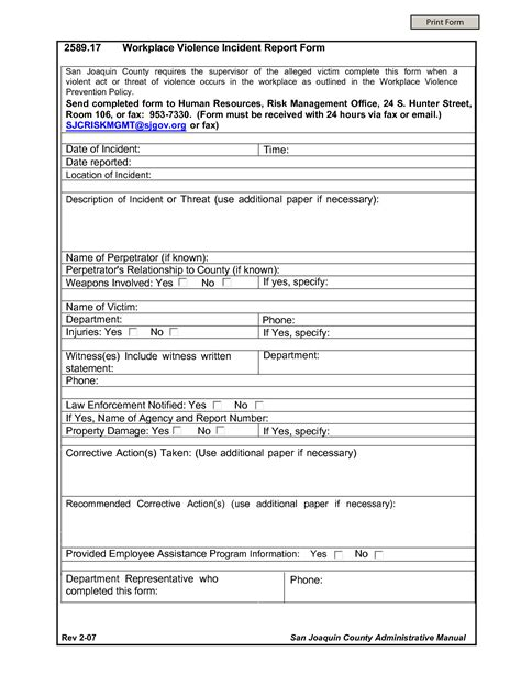 incident after report template best photos of work incident report form workplace