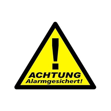 Aufkleber Am Briefkasten Einbrecher by Aufkleber Alarmgesichert 3er Packung Wagner Sicherheit