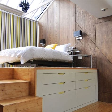 cool bed ideas  small rooms loft spaces modern