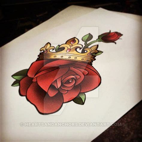 rose n crown pretty grotesque by heartsandanchors on
