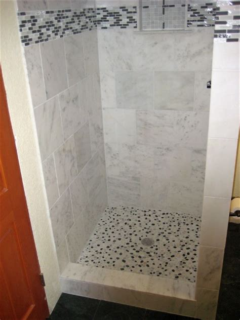 Shower Stall Tile Ideas by Shower Stall Renovation Ideas The Tiling And Grouting Is
