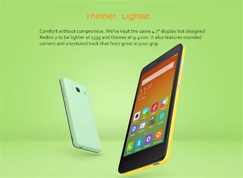 Chili 4g 1gb8gb White xiaomi redmi2 4g lte 4 7inch android phone qualcomm hd 1gb