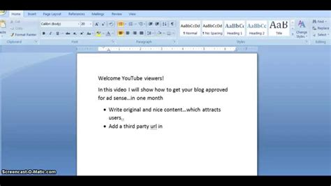 tutorial youtube adsense how to get blog approved for adsense in one month tutorial