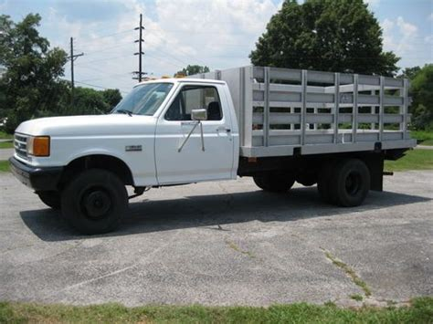 purchase used 1991 ford f450 fsuper duty 7 3 diesel 5 speed manual aluminum bed with liftgate in