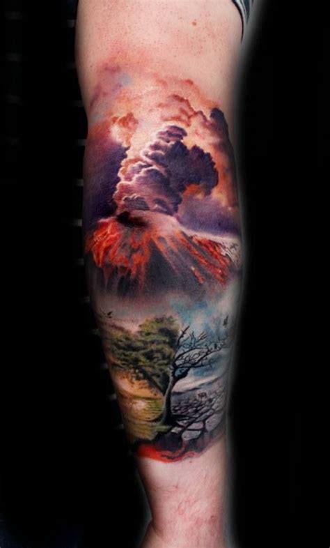 volcano tattoo 14 explosive volcano tattoos tattoos