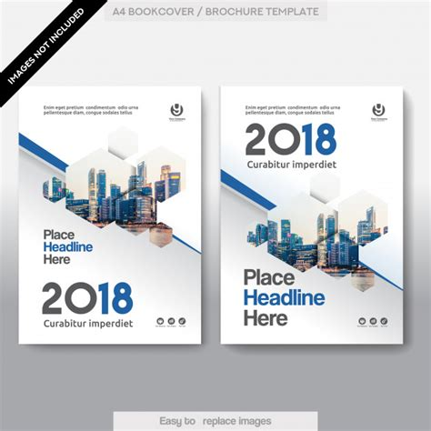 book cover template illustrator city background business book cover design template vector