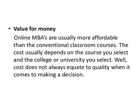Mba Cost More Than by How To Select The Right Distance Mba Program
