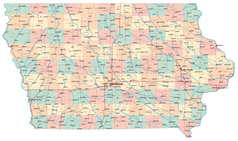 Iowa Search Major Cities In Iowa Map Kansas Map
