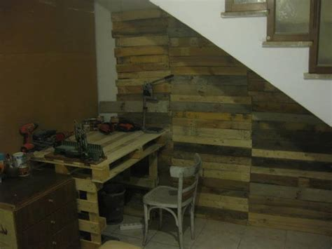 How To Organize A Bathroom Diy Pallet Wood Wall Under Stairs 99 Pallets