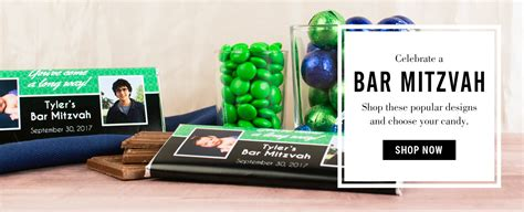 Bar Mitzvah Giveaways - bar mitzvah party favors personalized candy bars and wrappers