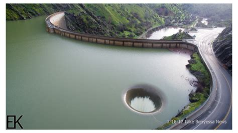 where is the glory hole full pipe find directions overflowing glory hole spillway at lake berryessa drone
