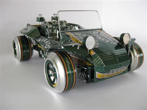 Handmade Cars - handmade model cars built with recycled cans gadgetsin