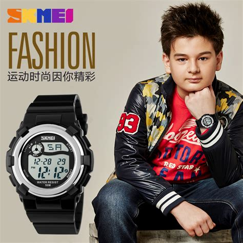 Skmei Children Sport Silicone Led Water Resistant 50m Dg1161 2 skmei jam tangan anak dg1161 pink jakartanotebook