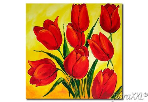 cuadros tulipanes cuadro moderno tulipanes flores apasionadas floraxxl