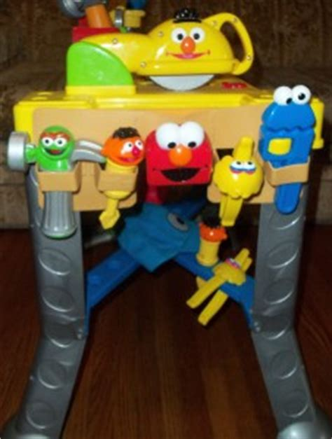 sesame street sing and giggle tool bench elmo sesame street sing giggle toolbench tool bench tool belt tools