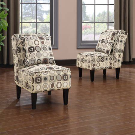 2 accent chairs and table set handy living armless accent chair set of 2
