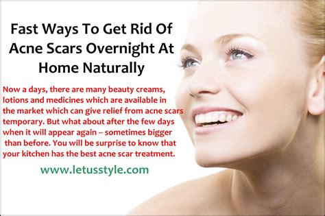 fast ways to get rid of acne scars overnight at home