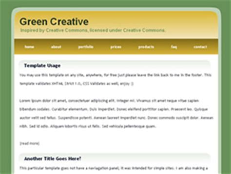 html simple page template simple website templates