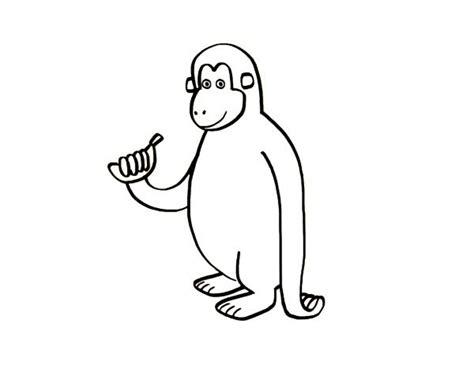 imagenes de monos faciles para dibujar mono con pl 225 tano dibujo para colorear e imprimir