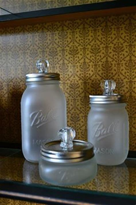 what to put in glass jars in bathroom best 25 frosted mason jars ideas on pinterest etched mason jars mason jar wine and