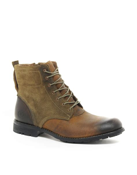 timberland earthkeeper suede mix 6 boots in brown for