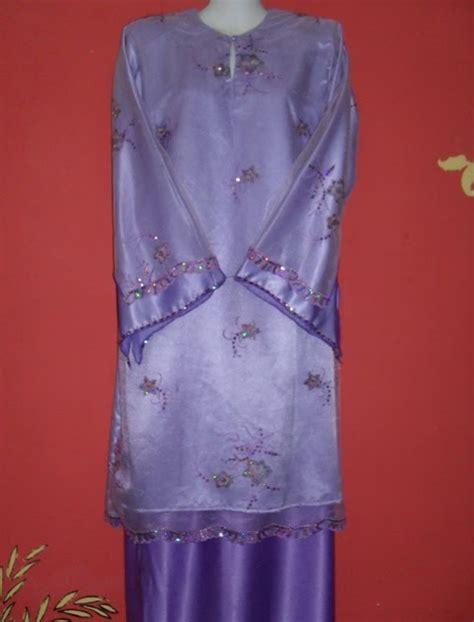 Baju Tunang Elegan zana collection baju kurung lace pertunangan rona ungu