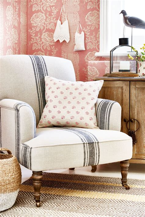 chair for room prairie chic ticking stripe chair living room living room chairs home decor accent chairs