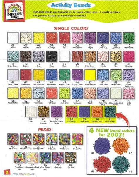 list of perler bead colors perler bead color chart by margieelisabeth via flickr