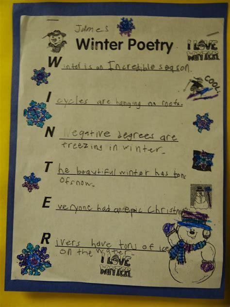 patties classroom snowman art  winter acrostic poems