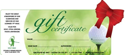 printable golf gift cards gift certificates welcome to the max
