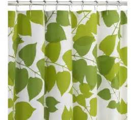 green leaves shower curtain green and white leaves shower curtain
