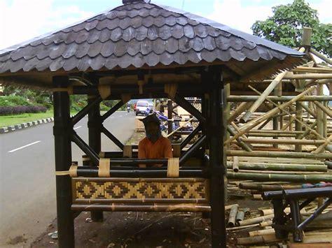 gazebo bambu unik gazebo bambu malang gazebo bambu minimalis gazebo bambu